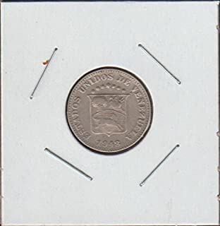 1948 Venezuela Shield Nickel Choice Extremely Fine