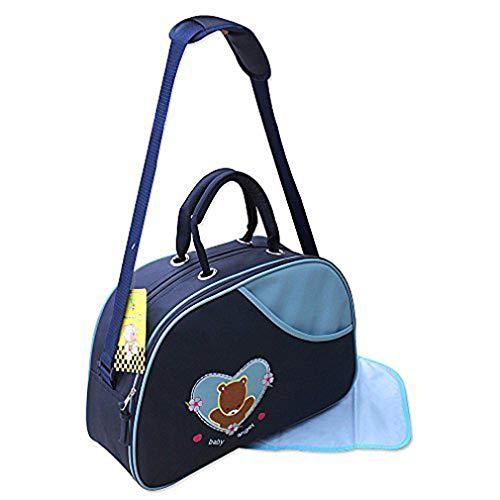 2 tlg Baby Farbe blau Wickeltasche Pflegetasche Windeltasche Babytasche Reise Farbauswahl