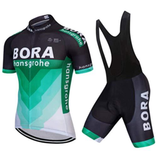 TOPBIKEB Completo Abbigliamento Ciclismo Uomo Estive, Magliette Ciclismo Maniche Corte Pantaloncini Ciclismo Uomo (XL, BORABGB)