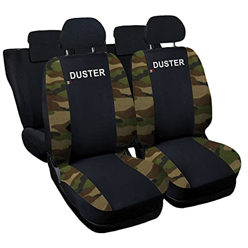 Lupex Shop Dacia Duster zweifarbige Sitzbezüge - schwarz Tarnfarbe