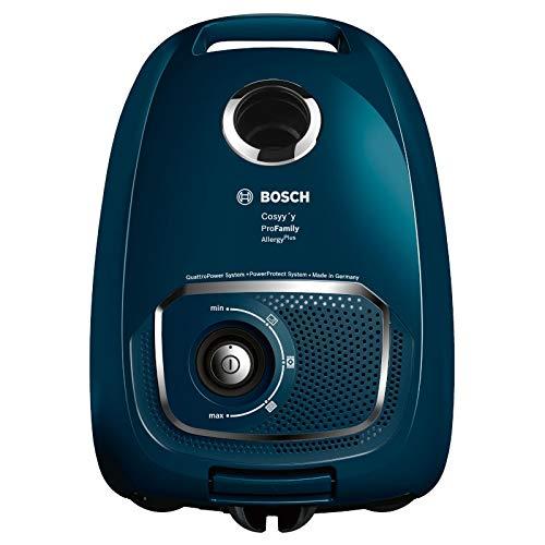 Bosch Elettrodomestico BGLS4FAM, Aspirapolvere a Traino con Sacco e Filtro per Allergie, 700 W, Blu, 69 decibeles