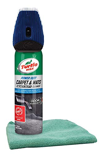 Turtle Wax Power Out! Carpet & Mats Cleaner (18 oz.) Bundled with a Microfiber Cloth (2 Items)