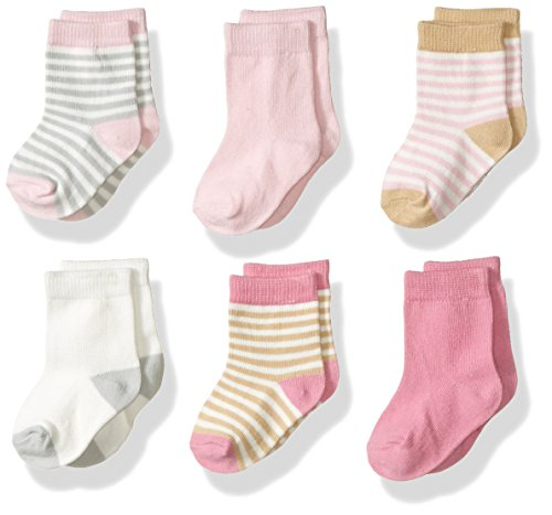 Touched by Nature Baby Organic Cotton Socks, Girl Stripes, 6-12 Months