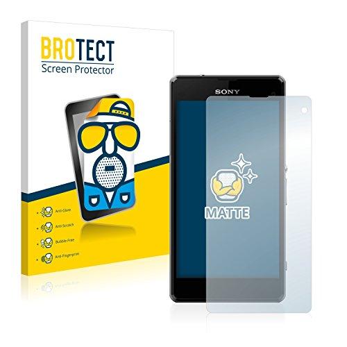 BROTECT 2X Entspiegelungs-Schutzfolie kompatibel mit Sony Xperia Z1 Compact / Z1 Mini Bildschirmschutz-Folie Matt, Anti-Reflex, Anti-Fingerprint
