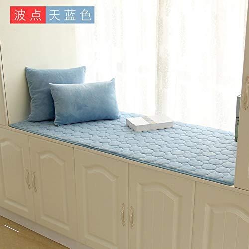 ZTMN Raamkussens, bessen, kussenhoes, voor vensterbank, zitten, drempel van pluche, tatami, antislip, dik, woonkamer, slaapkamer, balkon, G 60 x 180 cm