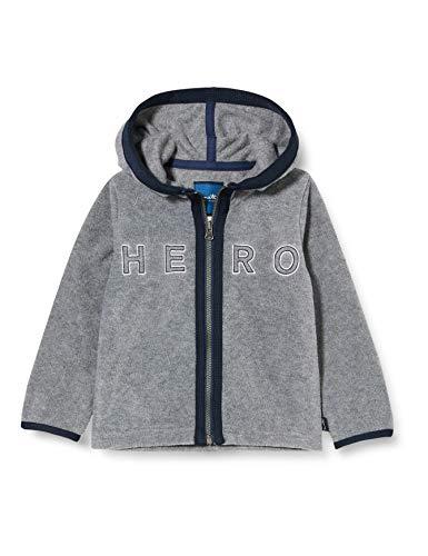 Sanetta Jungen Grey Mel Kidswear Fleecejacke in Graumelange großen Helden, grau, 122