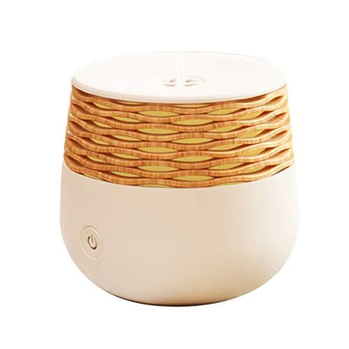Mini diffuseur d'huiles essentielles, chambre à coucher machine à aromathérapie à ultrasons lumière de nuit diffuseur d'arôme rond à l'arôme humidificateur, 30ml (Color : Blanc, Size : 8 * 8.8cm)
