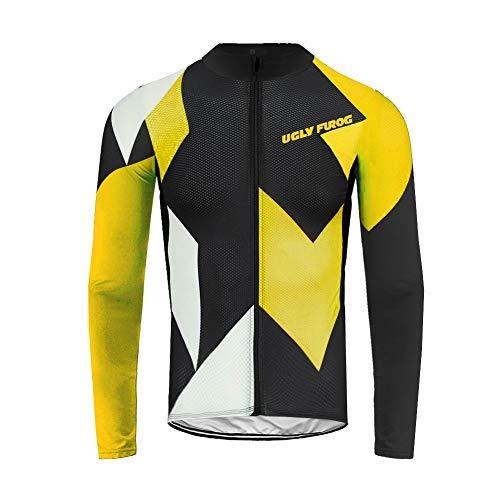 UGLYFROG Bike Wear Designs para Hombre de Manga Larga Traje Ciclismo Hombre Invierno de Bicicleta Carretera Biking Ropa de Montar Sportswear Jacket Camisa de Bicicleta Cycling Jersey