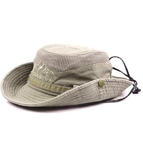 Sombrero Unisex De Algodón Bordado Visera Cubo Sombreros