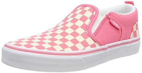 Vans Asher Unisex, Unisex-Kinder Niedrig, Pink (Checkerboard) Strawberry Pink/White Vhk), 28 EU (11 UK)