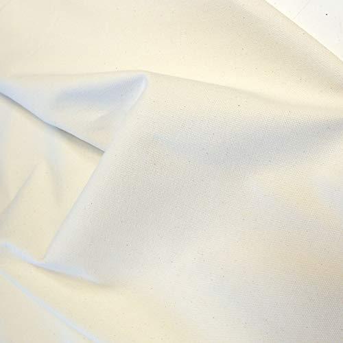 TOLKO Nessel Natur ROH-Baumwolle | 2,10 m breit | Dekostoff Gardinenstoff Segeltuch Stoff für preiswerten Sonnenschutz | zum Nähen Dekorieren Bemalen für Hochzeit Party Meterware Baumwollstoff