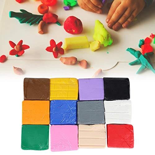Juego de 12 colores de arcilla polimérica, polímero, plastilina, plastilina, endurecimiento al horno, arcilla de modelado, mano, bricolaje, juguete, modelado, arcilla polimérica, aprendizaje para niño