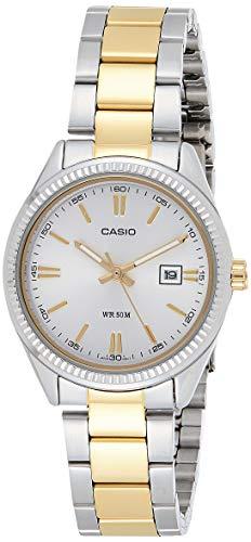 Casio Reloj Analógico para Mujer de Cuarzo con Correa en Acero Inoxidable LTP-1302PSG-7AVEF