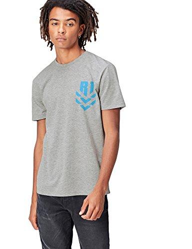 Marca Amazon - find. Camiseta de Star Wars 'Rogue One' para Hombre, Gris (Grey), M, Label: M