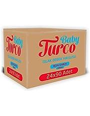 Baby Turco Beyaz Sabun Kokulu Islak Havlu Mendil 90 Yaprak, 24'lü, 2160 Yaprak