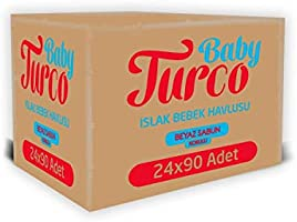 Baby Turco Beyaz Sabun Kokulu Islak Havlu Mendil