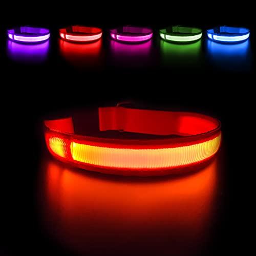 MASBRILL LED Dog Collar,Night Glow Light Up Dog Collar...
