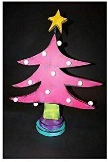 Kinks & Quirks Pink Dotted Wall Art Tree with Yellow Star by Tra Art Studio…