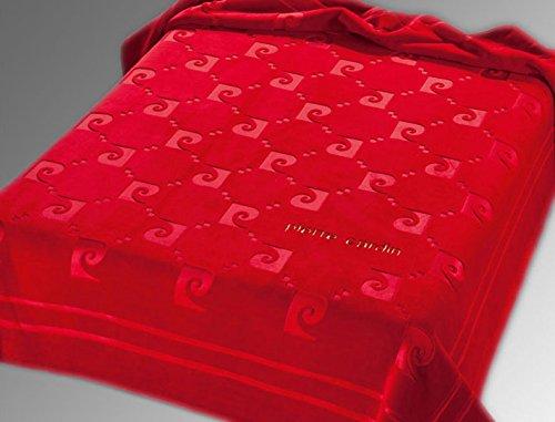 Pierre Cardin Couverture Nancy 654 2 Personnes 220 X 240 cm (Rouge/Red)