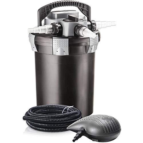 HEISSNER Druckfilter-Komplett-Set, Filter+Pumpe+UVC, FPU 10000