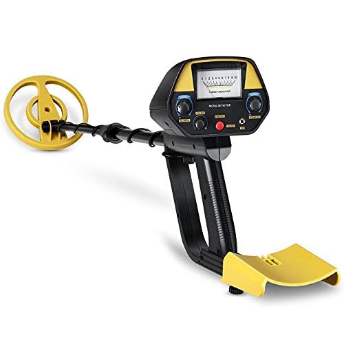 Detector de metales profesional, 3 modos de búsqueda, bobina de búsqueda de 7,4 pulgadas, altamente sensible, para profesionales y principiantes, con pala plegable y bolsa de transporte