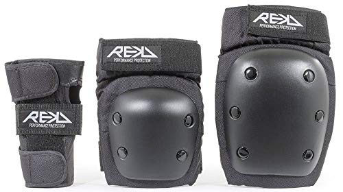 Rekd RKD600 Set (muñequera, codera y Rodillera), Unisex Adulto, Negro (Black), Small
