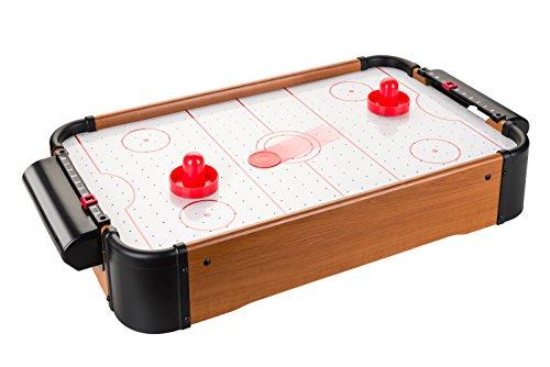 Villa Giocattoli-1093 Mini Hockey da Tavolo, Colore Effetto Legno, 1093
