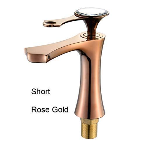 Lddpl waterkraan, hoogwaardig, modern, goudkleurig, verchroomd, voor badkamer, gootsteen, wastafel