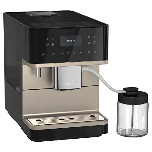 NEW Miele CM 6360 MilkPerfection Automatic Wifi Coffee Maker & Espresso Machine Combo, Obsidian Black & Clean Steel Metallic - Grinder, Milk Frother, Cup Warmer, Glass Milk Container