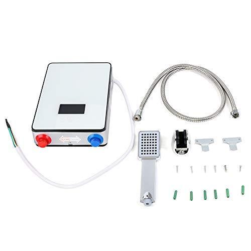 Durchlauferhitzer, 220V 6500W LED Durchlauferhitzer ohne Tank für Badezimmer zu Hause mit Schutz Gegen Trockenheizung und Übertemperaturschutz, Sicher/Energiesparend