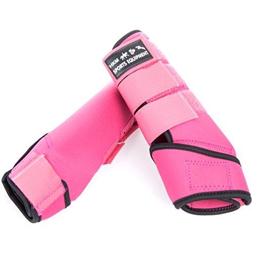 HKM by Reiterladen24 - Softoprengamaschen Colour pink/schwarz L