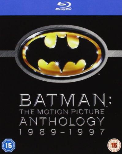Batman Anthology Complete Blu Ray Collection (4 Discs) Region Free Box Set : Batman, Batman Begins, Batman Forever, Batman and Robin + Featurettes + Interviews + Commentaries + Extras