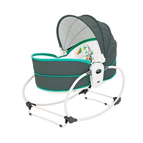 Electric Baby Shaker Schaukelstuhl mit Spielzeugständer 5-in-1-Nest-Swing-Stuhl-Bouncer-Stuhl Multifunktions einstellbar Eine Vielzahl von Wiegemodi, grün (Farbe: Grün)