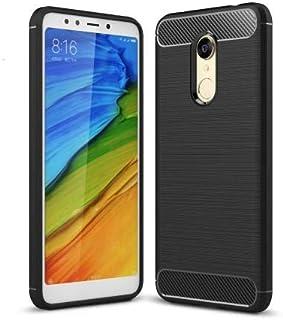 Okteq Carbon Fiber Texture Brushed TPU Mobile Phone Case for Xiaomi Redmi Note 5 Plus - black