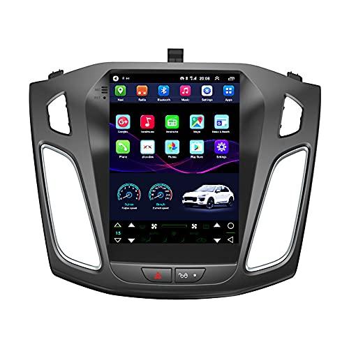 Kilcvt Navegación por Radio GPS, Estéreo De Navegación GPS para Automóvil De 9 Pulgadas/Android 10, para Ford Focus 12-15 Soporte De Pantalla Vertical Control del Volante/Bluetooth,4g WiFi 2g+32g