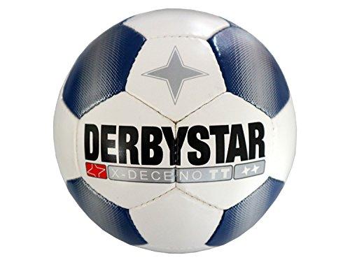 Derbystar Fußball Training weiß blau X-Deceno TT Fussball Wettspielball Qualität, Größe:5