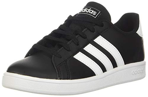 adidas Grand Court Wide, Zapatillas Niños, Negro/Blanco, 36 EU