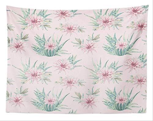 Ditiao wandbehang wandtapijt, wandbehang-woonkamerdecoratie-cactus De tapijten Tropische mooie bloempot (grootte: 150 cm * 200 cm)