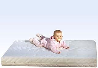 Barnmadrass barnsängmadrass Mell 70 x 140 cm kallt skum komfortskum med instegskant