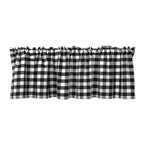 LOVIVER Fenster Tiers Vorhänge Schabracken für Küche Gitter, Top Tasche Halben Vorhang Tier für Kinderzimmer Schlafzimmer - 130x41cm 1 Panle
