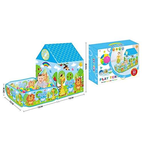 ATAA Casa con jardín y 50 Bolas Tienda de campaña para niños Casa con jardín y Bolas Incluidas