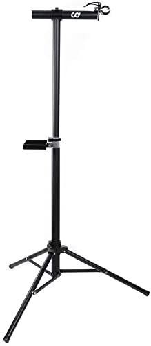 CyclingDeal Full Aluminum Bike Repair Stand - Home Portable Mechanics Workstand - Great for Mountain Road Bikes Maint...