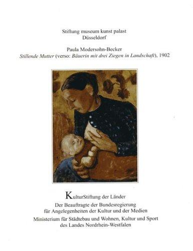 Paula Modersohn-Becker: Stillende Mutter (verso: Bäuerin mit drei Ziegen in Landschaft), 1902 (Patrimonia 243)
