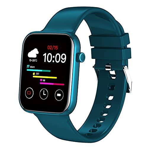 WANJUN Reloj Elegante de la Pulsera Elegante, Reloj Elegante de los Deportes de Bluetooth, perseguidor del Ritmo cardíaco, perseguidor de la Aptitud de la presión Arterial,Azul