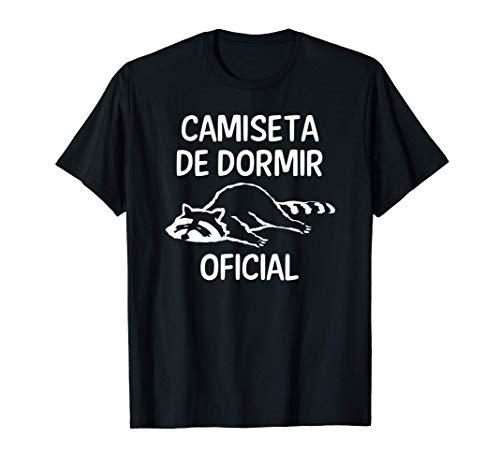camiseta de dormir oficial mapache pijama regalo Camiseta