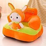 ETbotu Baby Sofa,Lernstuhl Sitz Kind Esszimmerstuhl Anti-Rollover Abnehmbarer Kindersitz Kaninchen, Länge 55 cm, Breite 46 cm, Höhe 40 cm