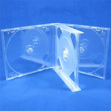 : Vision Media® 10 x 3 Wege Multi CD klar Jewel Case - 22 mm Rücken