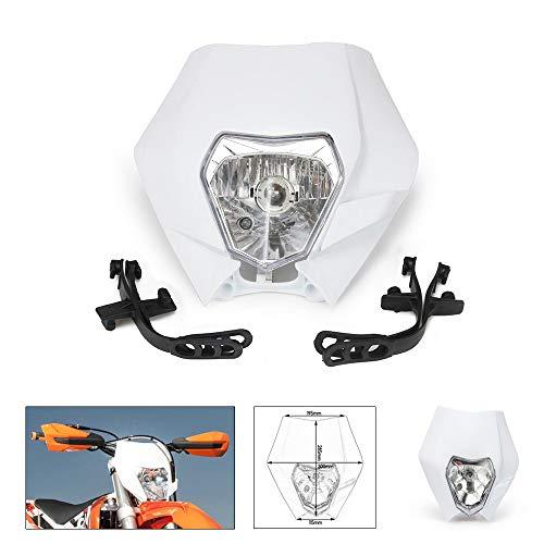 Faros delanteros universales Blancos Faros Farola Farola Street Fighter Máscara Luz de circulación Luces de señal de giro para motos ATV Scooters Dirt Pit Bike Enduro