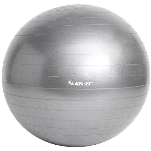 Movit Ballon de Gymnastique »Dynamic Ball« et de Fitness ou Ballon d'exercice avec Pompe 55 65 75 ou 85 cm, 7 Couleurs, capacité de Charge maximale jusqu'à 500 kg