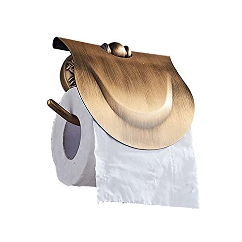 Riyyow Soporte de Rollo de Inodoro, Soporte de Papel higiénico Montaje de Pared con Tornillos Tenedor de Papel higiénico para baño (Imitación de Cobre Vintage)